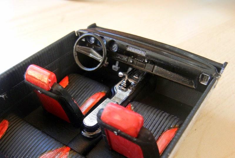 model car builder blog aside again 69 olds 60 minute interior including mask. Black Bedroom Furniture Sets. Home Design Ideas