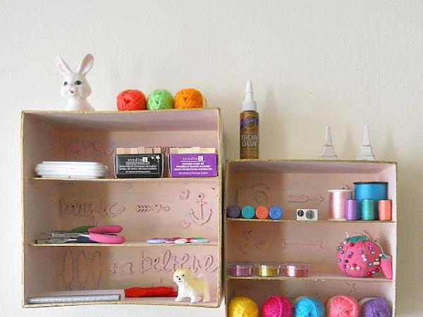 DIY Shadow Box Storage