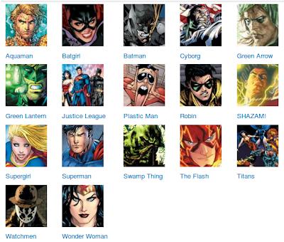 popular characters DC Comics
