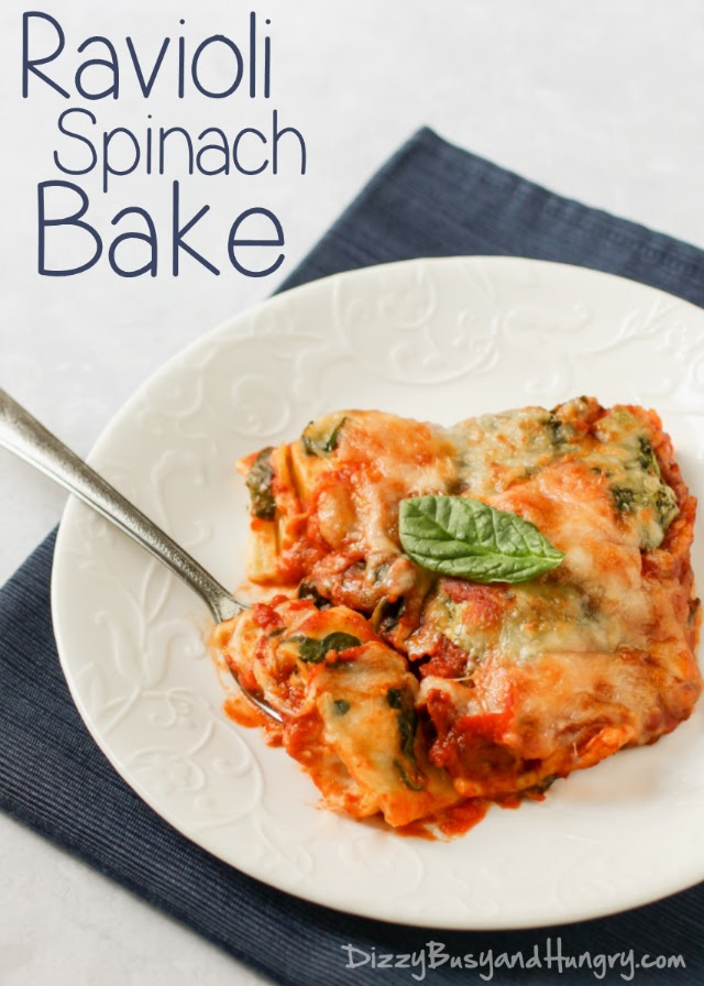 Ravioli Spinach Bake, shared by Dizzy, Busy & Hungry