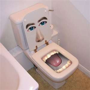 funny weired mouth toilets