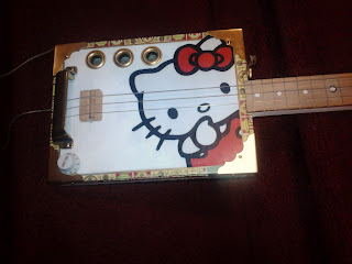 Hello Kitty Cigar Box Guitar