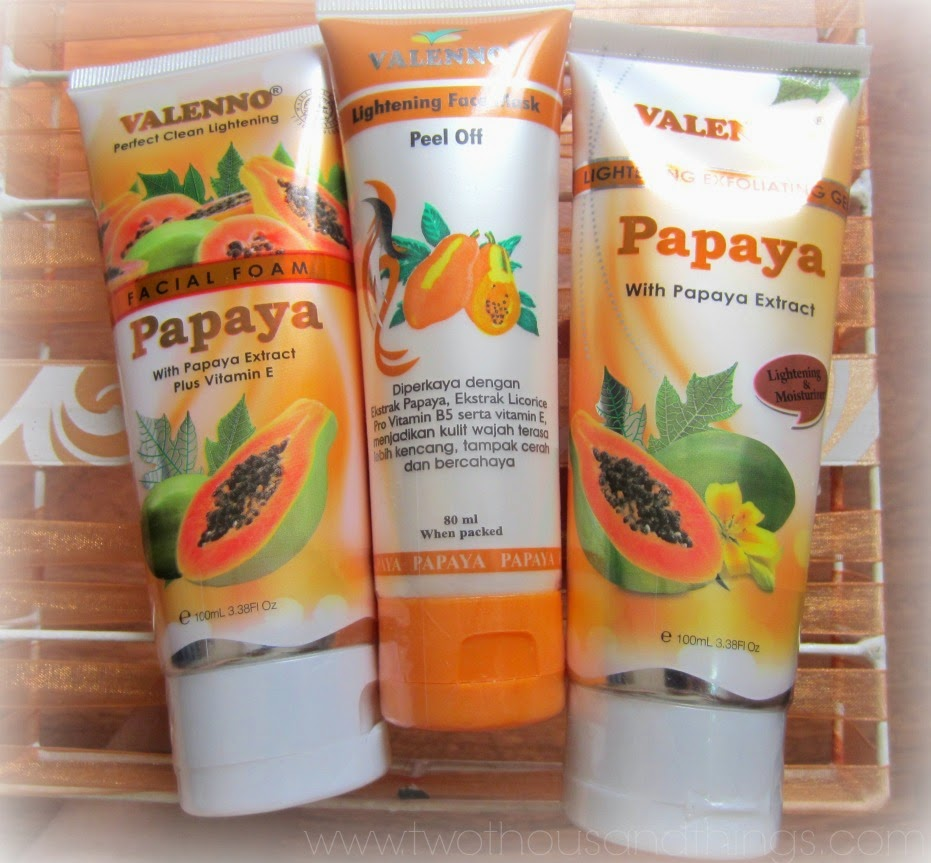 Skincare Valenno Papaya Series Two Thousand Things Pixy Brightening Facial Foam 100 Ml Is A New To Me Brand And This My First Time Trying Them But From Experience After Using Their Products For More Than Week
