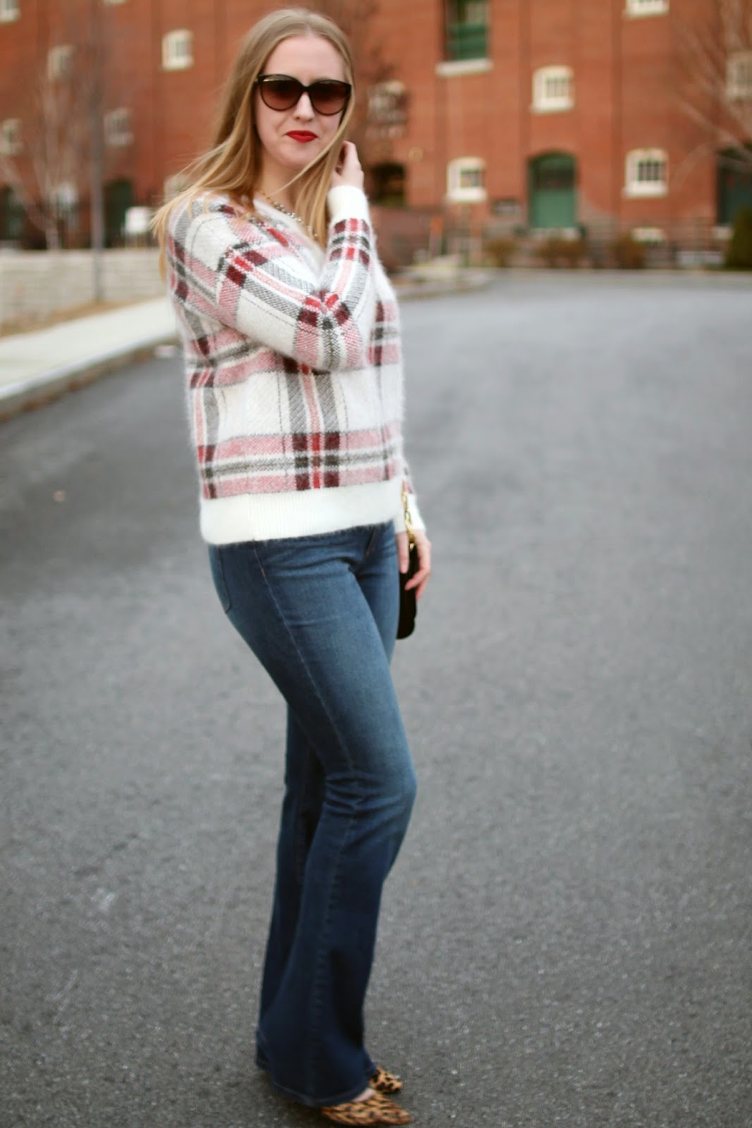 424 fifth plaid sweater, winter sweater, boston style blogger style, boston fashion blogger
