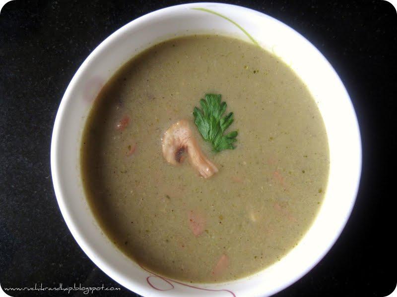 Garlic Mushroom Soup Recipe — Dishmaps