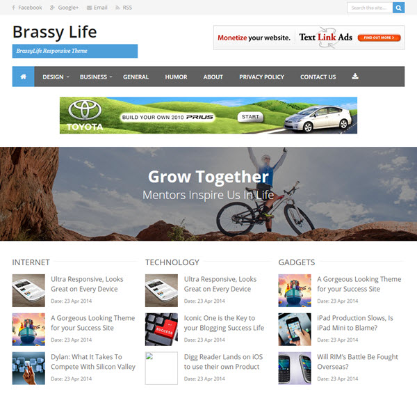 BrassyLife Blogger Template