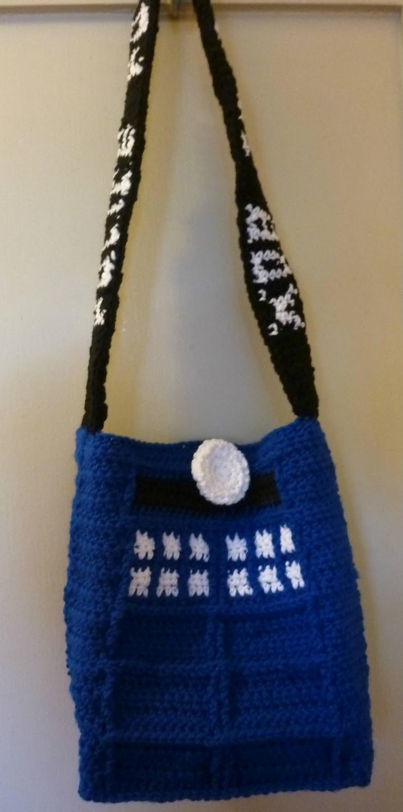 Crochet Bag Strap : Crochet Dynamite: Tardis Bag Strap