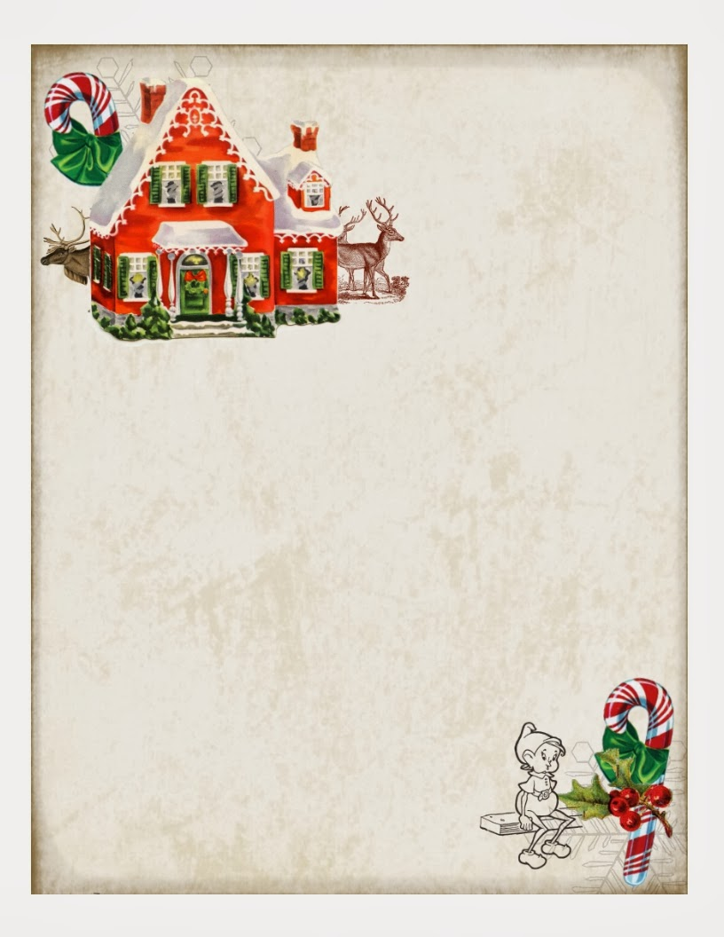 Printable+Holiday+Paper The gray on the border does not print, it's a ...