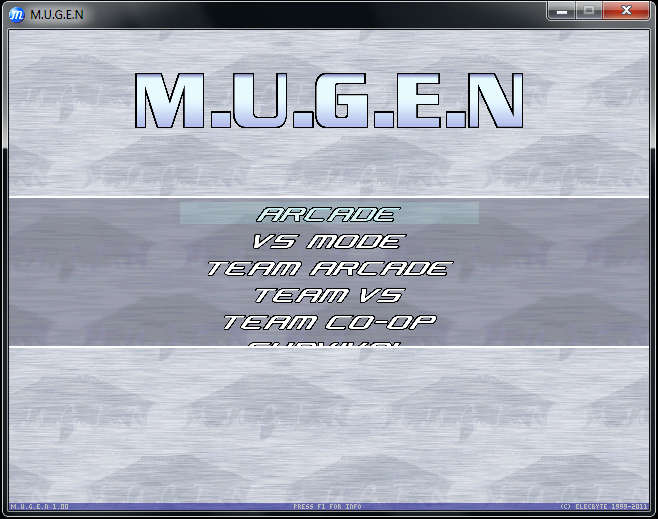 Download and play MUGEN!