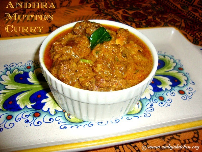 images for Andhra Mutton Curry Recipe / Mutton Kura Recipe / Andhra Style Mutton Curry Recipe