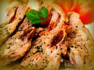 Chuletas de pavo en salsa de maracuyá