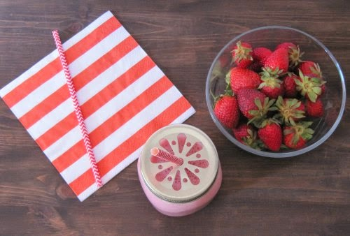 Presentación Smoothie de fresa