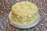 Lemon layer cake with lemon buttercream rose swirls