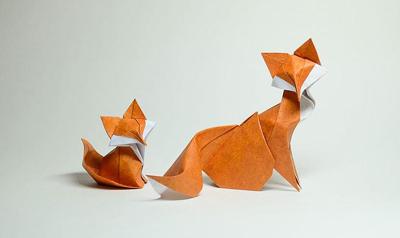 Artista vietnamita usa rara técnica plegable para esculpir difíciles Origami Curvados