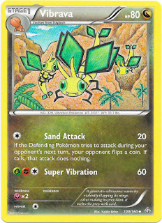 Vibrava Primal Clash Pokemon Card