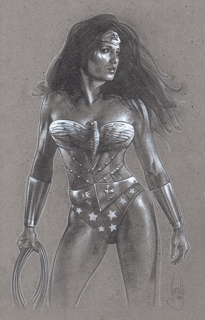 Wonder Woman Art © Jeff Lafferty 2014