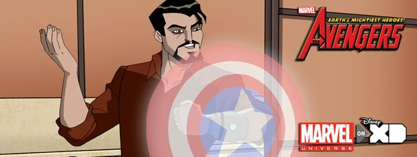 'Ha! With this shield in front of me, now no one will be able to shave off my douchey facial hair! Disappointed, Pepper?'