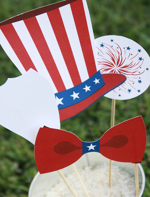 4th of July photo prop party ideas