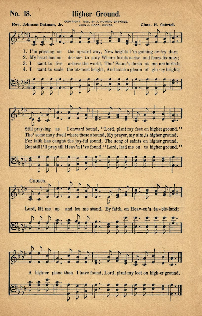 Higher Ground Hymn Antique Hymnal via Knick of Time