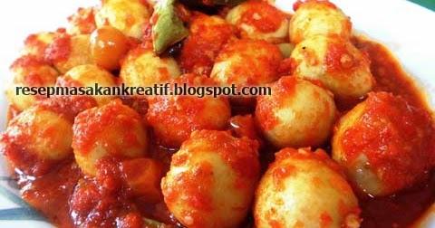 resep sambal goreng telur puyuh balado merah   aneka resep