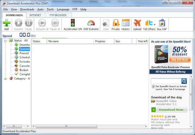Download Accelerator Plus 10.0.3.5 ScreenShoot