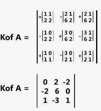kofaktor matriks ordo 3x3