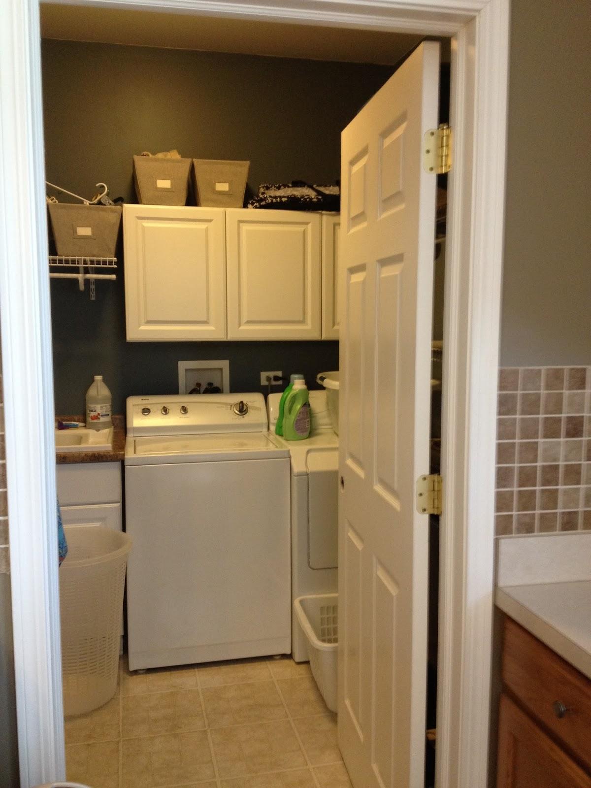 Laundry room makeover update install sliding door for Laundry room sliding doors