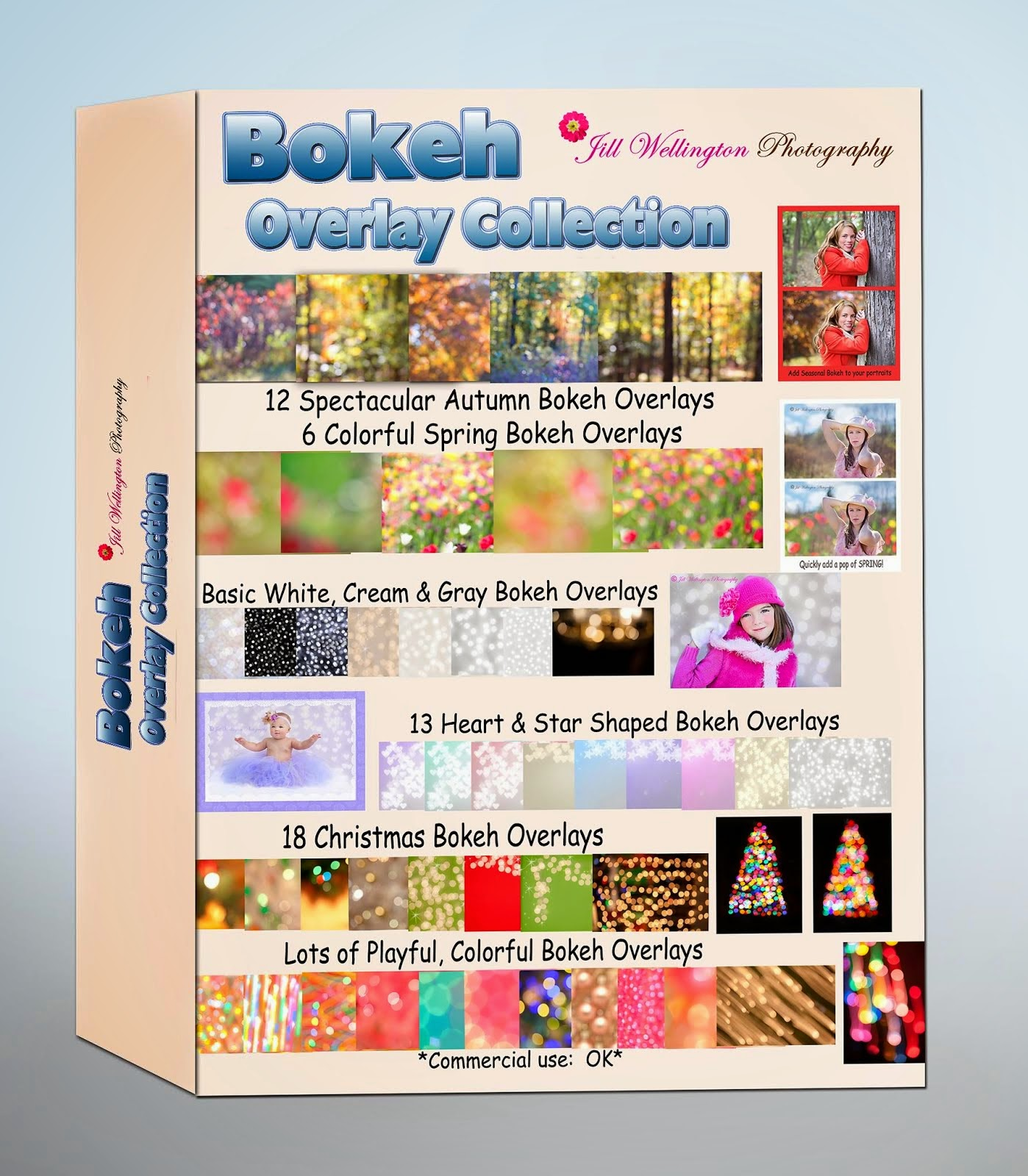 NEW!  Purchase my Jill Wellington Photography Bokeh Overlay Collection