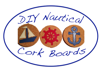 Nautical Cork Board Coasters from Kraftie Katie