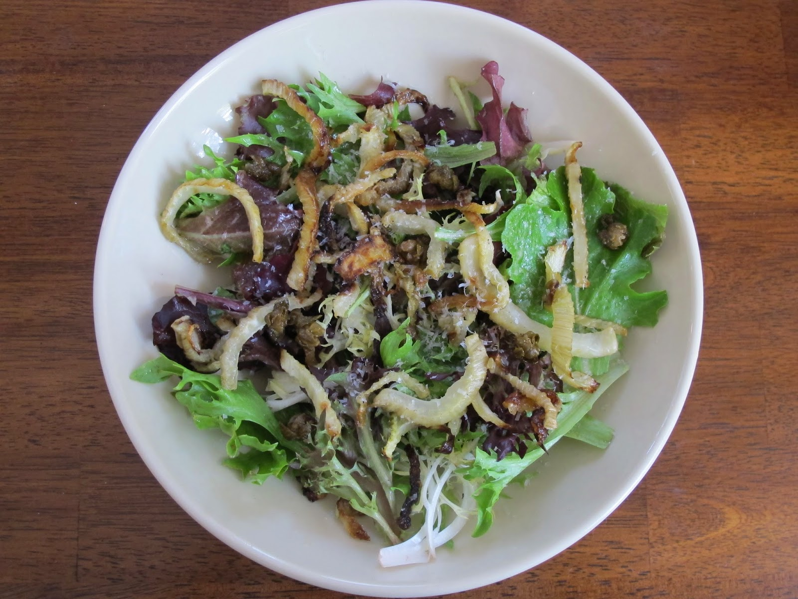 Mixed Greens Roasted Fennel Salad