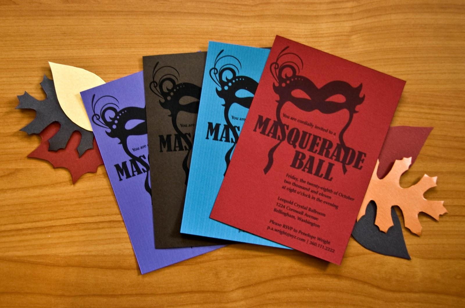Enchanting Masquerade Ball Wedding Invitations Image - Invitation ...