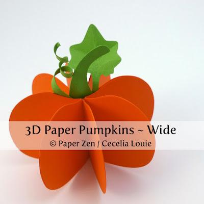 3D Paper Pumpkin - Wide