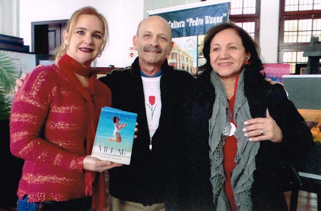 Manoel Ianzer com Claudia Souza e Lú ianzer