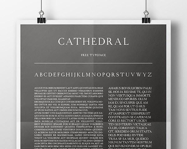 Cathedral free fonta