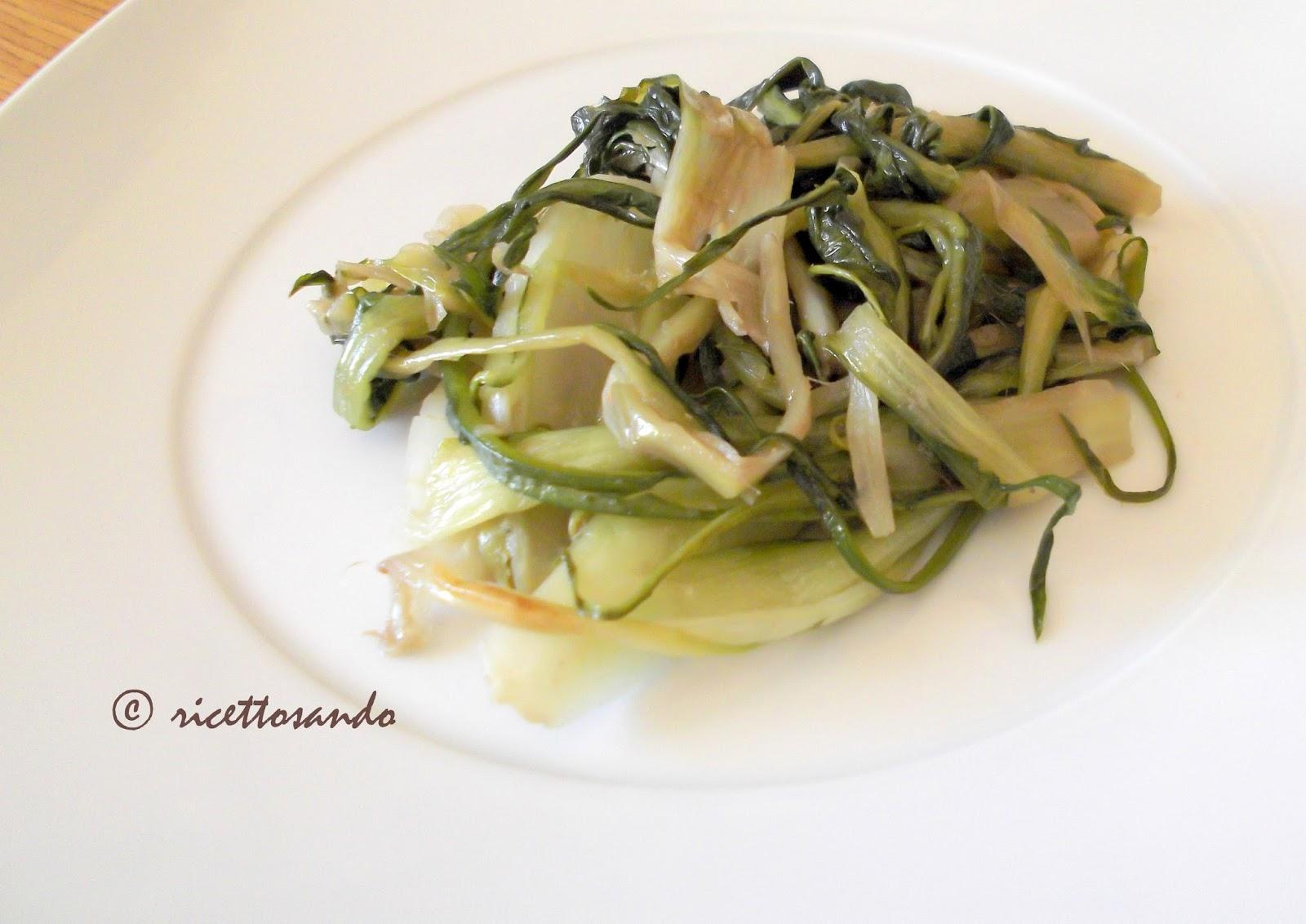 Puntarelle saporite ricette contorno di verdure