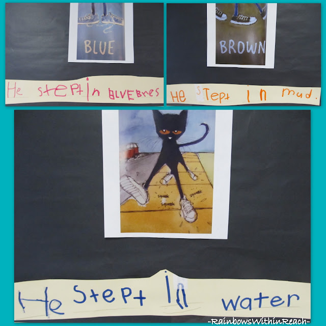 photo of: Pete the Cat Kindergarten Writing Response