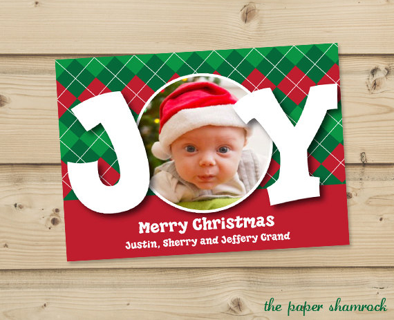 Beautiful Personalised christmas cards