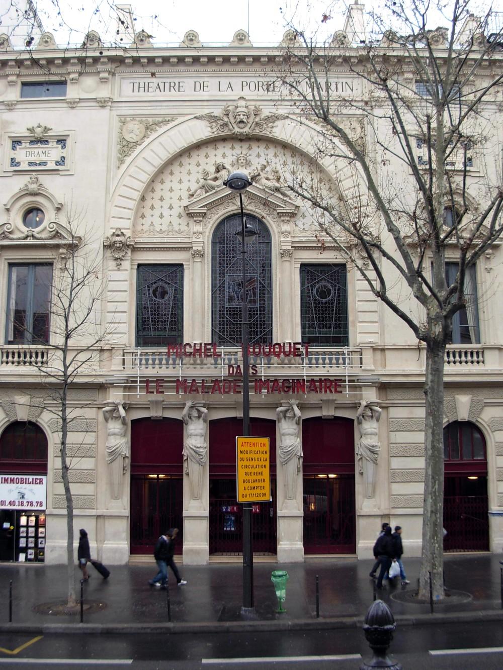 Ilcovodijack 245 x arrondissement di parigi entrep t - Theatre de la porte saint martin plan ...