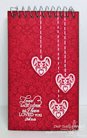 ODBD Brocade Background, ODBD Custom Ornate Hearts Die Set, Bless Your Heart, Project by Angie Crockett