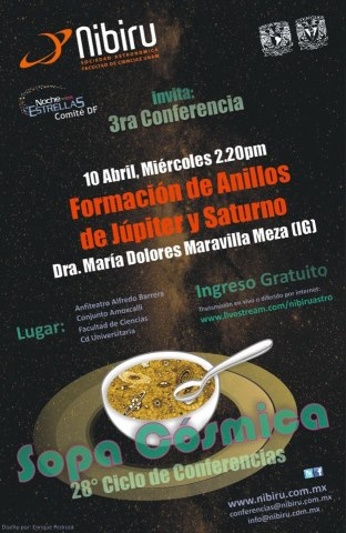 Sopa Cósmica, 28° Ciclo de Conferencias de Astronomía