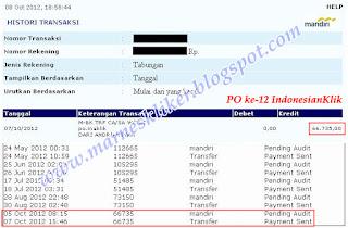 Payout ke-12 dari IndonesianKlik