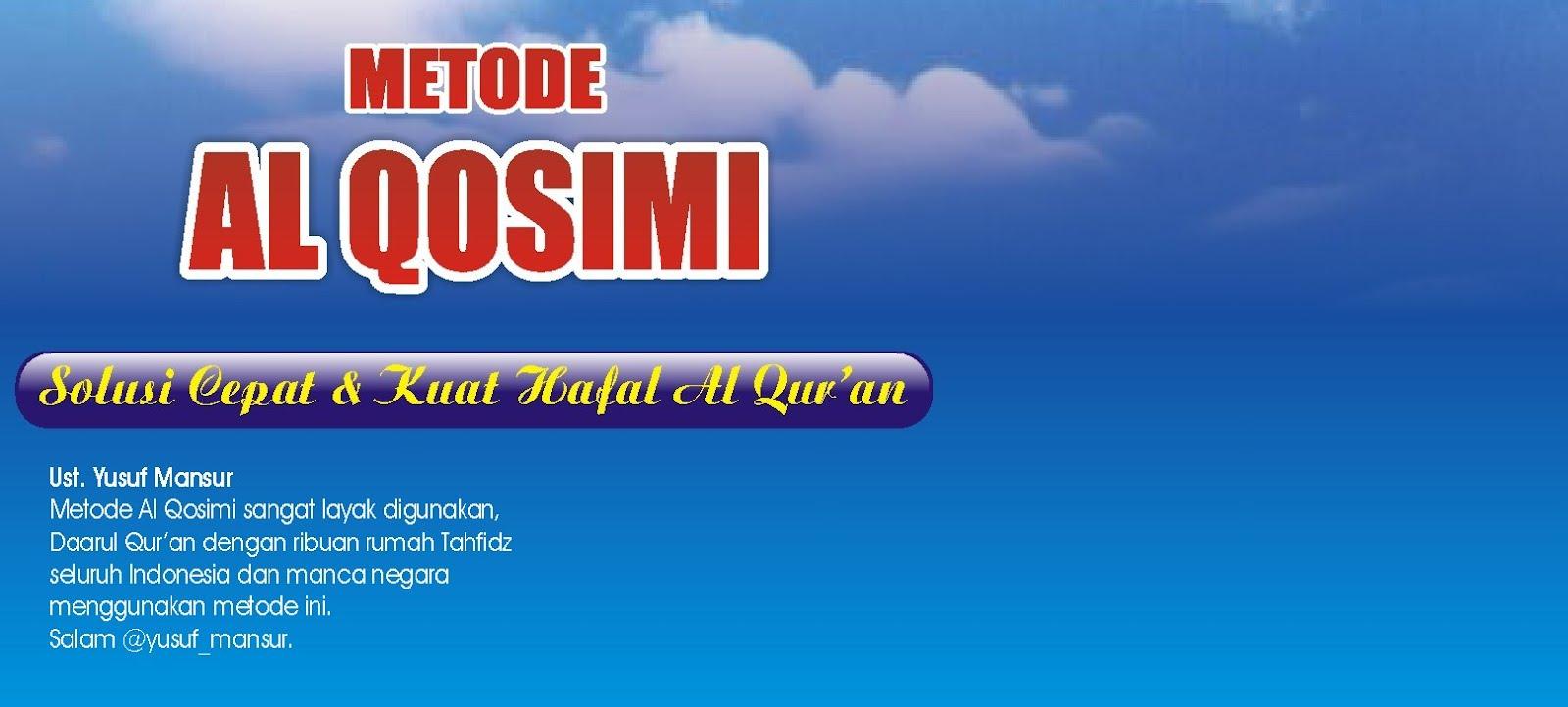 Metode Hafalan Al Qur'an Al Qosimi