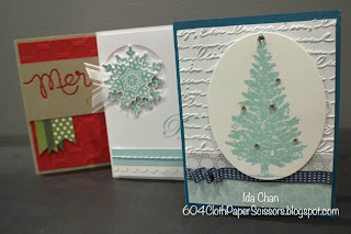 Christmas Stamp-a-stack II by Ida Chan, #StampinUp Vancouver