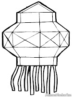 Gambar Mewarnai Lampu Lampion Imlek Cina