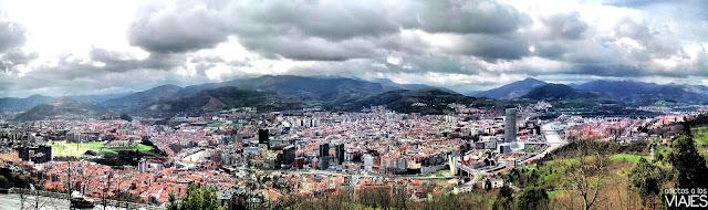 vista panoramica de bilbao desde monte artxanda