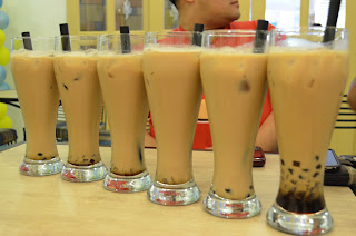 Teacup Café:Assam Milk Tea with Coffee Jelly and Boba Pearls