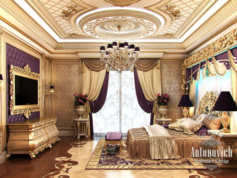 Luxury antonovich design uae master bedroom in classic style for Luxury classic bedroom designs