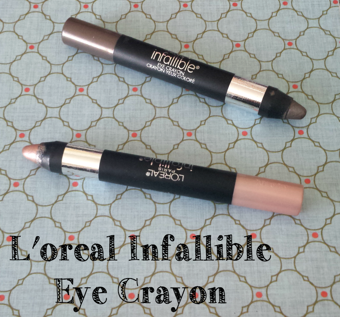 L'Oreal Infallible Eye Crayon enduring rose forever taupe review swatches