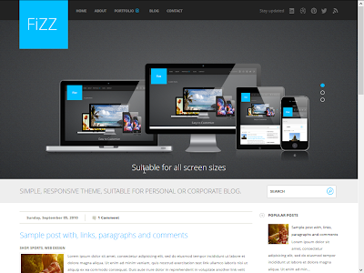 Fizz Blogger Template