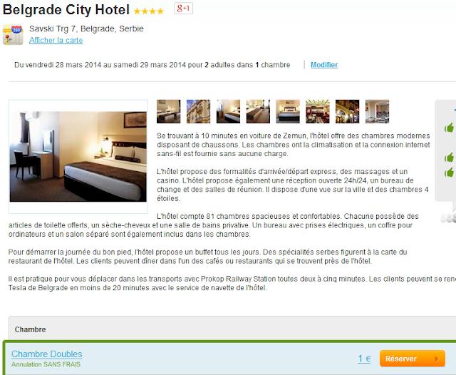 Belgrade Hotel 1€